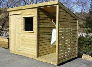 Brecon Style Garden Shed With Log Store